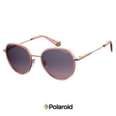 Слънчеви очила POLAROID 6114/S GOLD PINK Burgundy с поляризация